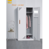 Buy cheap 2 door thick Steel locker with cloths hanger upper  2 fixed shelf  any RAL/LK color from wholesalers