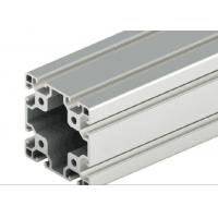 Buy cheap Decorations Extruded T Slot , Silver Anodized T Slot Aluminium Extrusion from wholesalers