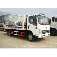 Buy cheap FAW 3 Ton Road Wrecker Tow Truck / Transporter Recovery Truck With Crane EURO 5 from wholesalers