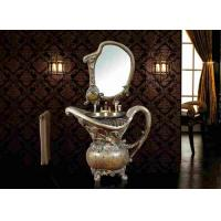 Buy cheap Home Furniture Artistic Poly Resin Antique Wash Basin With Mirror Single Sink from wholesalers