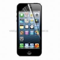 Buy cheap Clear Screen Protector for iPhone 5, Made of PET Material and Anti-scratch Function from wholesalers