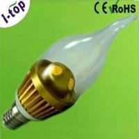 Buy cheap Warm White High Power Tear Shape Candle Tip Replacement Dimmable LED Light Bulbs E14 3w from wholesalers