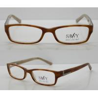 Buy cheap Orange / Black Rectangular Retro Acetate Eyeglasses Frames With Lightweight product
