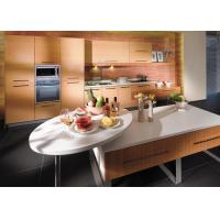 Buy cheap Yellow Integrated PVC Kitchen Cupboards / Cabinets With Soft Closing Drawers And Dishwasher from wholesalers