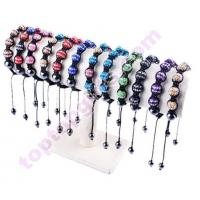 Buy cheap double color metal rhinestone shamballa bracelet from wholesalers