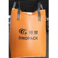 Orange 500kg big bag FIBC with filler cords , Large FIBC Jumbo Bag