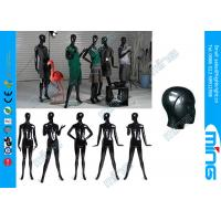 Buy cheap Fiberglass Full Standing Female Body Display , Glossy Black Woman Mannequins from wholesalers