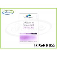 Buy cheap Photochromic UV Indicator Card Plastic Color Change UV Testing Card For Promotion Gift from wholesalers