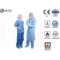 Buy cheap Clinical Doctor Light Blue Scrubs Fluid Resistant Lint Free With Waist Tie product