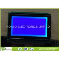Buy cheap 128x64 Graphic LCD Panel COB STN Blue Negative LCD Module With LED Backlight from wholesalers