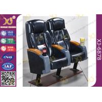 Buy cheap High Rocking Back Cinema Theater Chairs With Cup Holder 5 Years Warranty from wholesalers