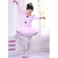 Buy cheap Children cotton skirts costumes long sleeve uniforms girl ballet performance dance dress from wholesalers