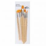 Buy cheap Round Fan Angular Flat Head Golden Nylon Hair Artist Paint Brushes Set from wholesalers