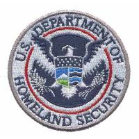 Buy cheap Custom Embroidery patch Emblem U.S. Department of Homeland Security Eagle WDT11201 from wholesalers