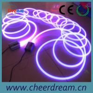 China 1.5-20mm solid core side glow flexible fiber optic light on sale