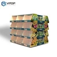 Buy cheap 2 Sides Cardboard Floor Displays , Supermarket / Store Cardboard Retail Display from wholesalers
