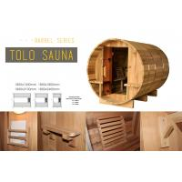 Buy cheap Custom Circular Dry Heat Steam Bath Cabin For Home / Garden / Green Roofs Barrel Sauna from wholesalers