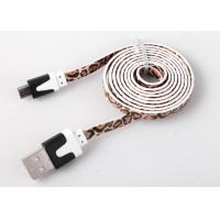 Buy cheap Flat Printed Micro USB Charging Cable High Speed For Mobile Charge And Sync from wholesalers