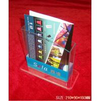 Buy cheap Hotel / Restaurant Transparent Acrylic Literature Display Stands With 0.8-12mm Thickness from wholesalers