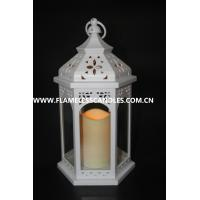 China Indoor White Flameless Candle Lanterns / Outdoor Hanging Candle Lanterns for Weddings on sale