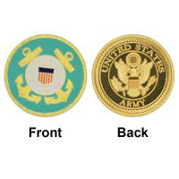 Buy cheap Hot New United States Coast Guard Gold Plated Coin Unique American Military Commemorative Coins Souvenir Challenge Coin from wholesalers