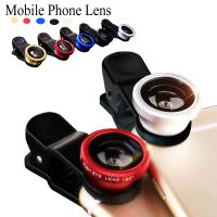 Buy cheap Universal clip on phone 3in1 lenses for Moblie Smart Phones 3 in 1 FishEye Wide Angle Macro Lens For iPhone For XIAO MI from wholesalers