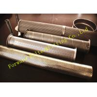 Buy cheap Threaded Wire Mesh Perforated Steel Pipe Tubing Of Mild Steel / Carbon Steel from wholesalers