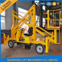 Buy cheap Automatic 4 Wheels Articulated Vehicle Mounted Boom Lift for 8m - 14m Aerial Work from wholesalers