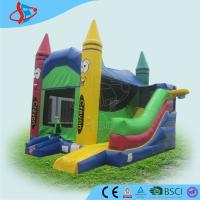 Buy cheap Crayon Ren Yellow Green Commercial Inflatable Bounce House Happy Hop Jumping Castle from wholesalers