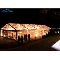 Buy cheap 500 Guests Wedding Party Transparent Marquee Tent With Glass Walls Lining Curtain from wholesalers