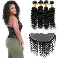 Healthy 100 Unprocessed Virgin Brazilian Hair Deep Wave Customized Color