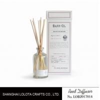Buy cheap 120ml clear bottle reed diffuser with customized fragrance and gift box product