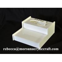Buy cheap Desktop White Perspex Tissue Box, Acrylic Hotel Supplies from wholesalers