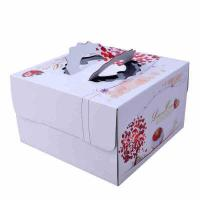 Buy cheap Square Birthday Cake Custom Packaging Boxes Food Grade Lvory Paper 400gsm - 800gsm from wholesalers