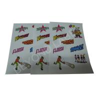 China Sheet Adhesive Kids Label Stickers , Custom Adhesive Cartoon Stickers For Kids Toys on sale