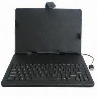 Buy cheap 10-inch Leather Case with Keyboard for Tablet PCs, Easy to Insert and Remove from wholesalers