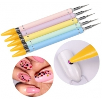 Buy cheap Rhinestone Dotting Cheap Nail Gel Nail Polish Pen Tools Manicure With Two Way Use Dot Pens from wholesalers