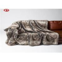 Buy cheap Sofa Couch Faux Fur Blanket Brown Chinchilla Mink Stripes Premium Bedding Throws from wholesalers