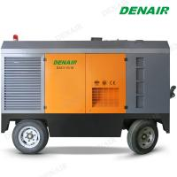 Buy cheap 1600cfm 10bar Oil Lubricated Diesel Operated Mobile Screw Air Compressor for Mineral from wholesalers