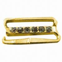 Buy cheap Extender for Bra, Made of Zinc Alloy and Diamond, Plating with Gold or Silver product