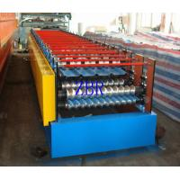 Buy cheap Three Phase Steel Plate Metal Roof Roll Forming Machine 235-350 Mpa Yield Stress product