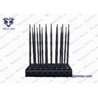 Buy cheap Remote Control Mobile Phone Signal Jammer Full Bands 16 Antennas With AC Adapter product