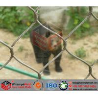 Buy cheap Stainless Steel Wire Cable Mesh/Zoo Mesh/Animal Cage​ from wholesalers