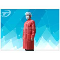 Buy cheap Lab Coats Breathable Non woven disposable medical scrubs With Shirt Collar Knitted Cuff from wholesalers