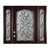 Buy cheap Hollow Wrought Iron Glass Safety Tempered Technical Entry Door Suit Oval Shaped from wholesalers