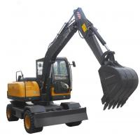 Buy cheap Humanized 6 Ton Wheel Excavator Machine For Construction Low Fuel Consumption from wholesalers