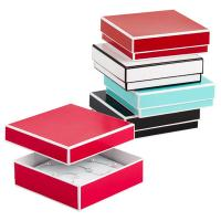 Buy cheap Recyclable Colorful Kraft Jewelry Paper Boxes / Bracelet Packaging Box product
