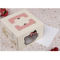 China Fashion Beautiful Paper Cake Packaging Box with Window on sale