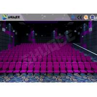 Quality Sound Vibration Cinema 3D Movie Theater System With Shock Effects Seats for sale