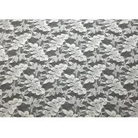 Buy cheap Off White Leaf Shape Nylon Lace Fabric Durable Washable For Garment Apparel from wholesalers